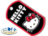 Medalion format militar din alama Pet Scribe, dimensiunea 29x51mm , Hello Kitty, cod 7337-1236 - 50 RON